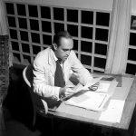 O escritório (e o quarto) de Oscar Niemeyer